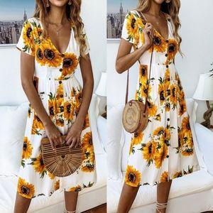 BETH Sunflower Dress